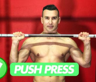 Il Push Press, un metodo innovativo per allenare le spalle e non solo